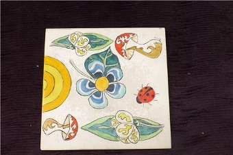 Antique Art tile rare item of quality . SB