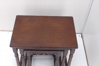 Antique Oak Nest of three tables