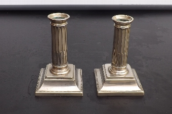 Antique Candle sticks WMF continental silver plate. B37
