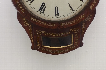 Antique Clock double fusee Rosewood with mother of pearl inlays drop dial
