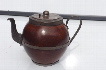 Antique Treen in shape of teapot but is fantastic money holder. B38