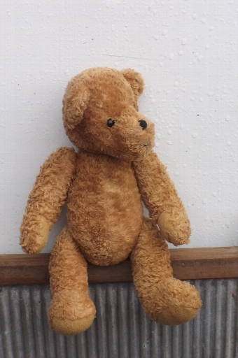 Antique  Old Teddy bear, long snouted condition good.