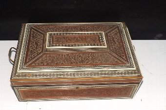 Antique Lady's table top Jewelery/work box