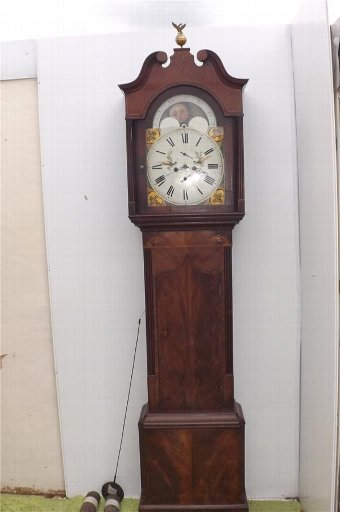 Antique Grandfather clock 8 day moonroller George 111