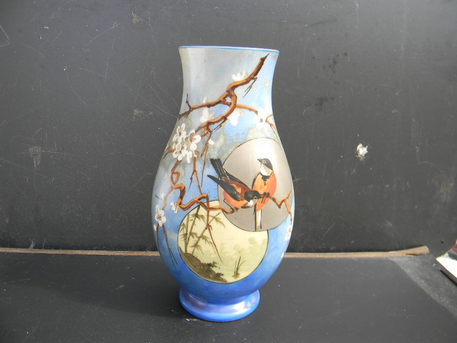 Hand painted Victorian Vase