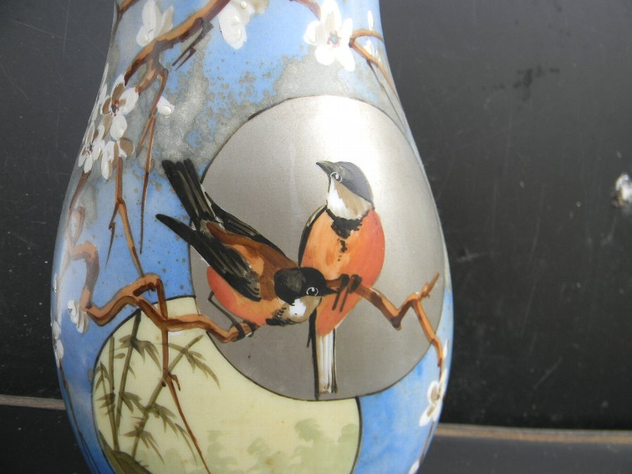 Antique Hand painted Victorian Vase