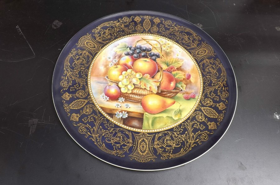 Charger Hand Painted porcelain Plate.