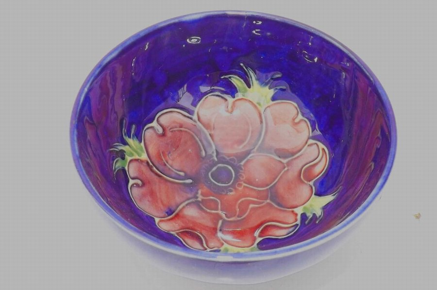 Antique moorcroft bowl early piece condition excellent