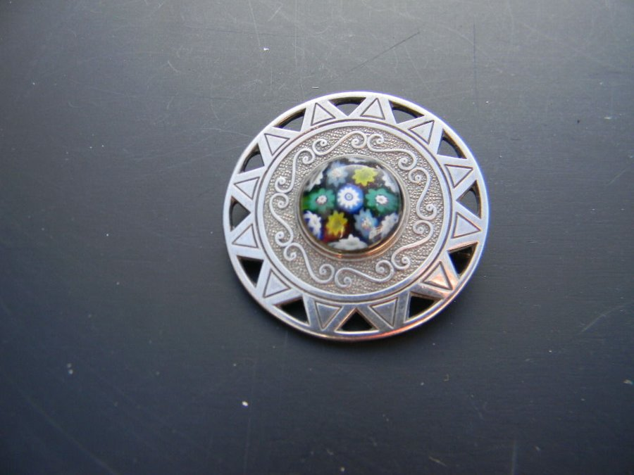 Scottish silver hallmarked celtic Brooch