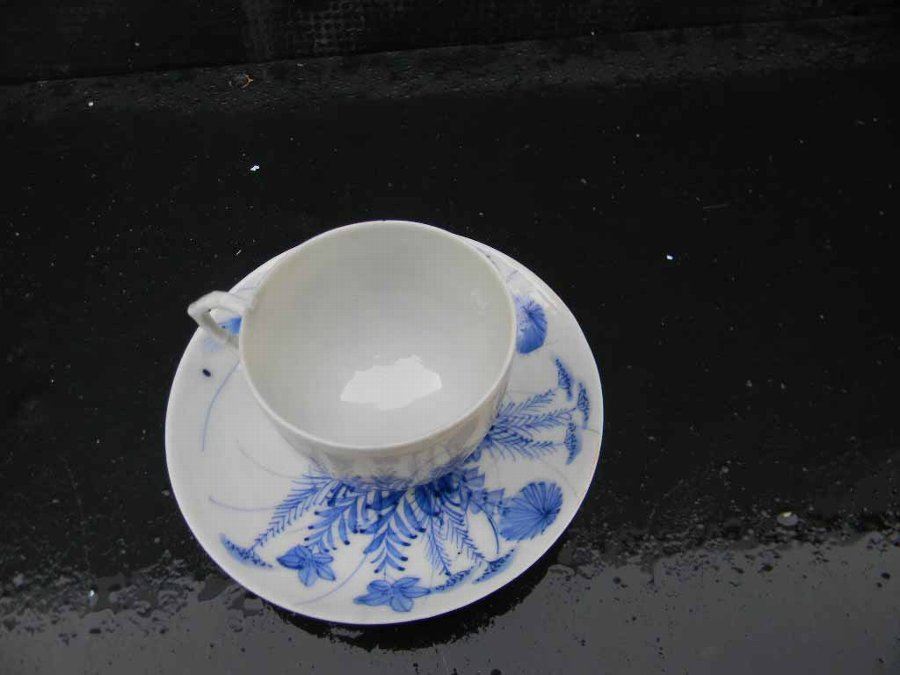 Antique Chinese cup & saucer hand crafted design old and beautiful