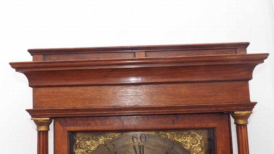 Antique antique longcase clock Georgian era.
