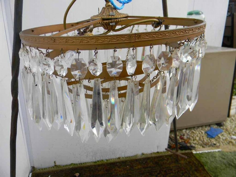 victorian lustre Chandelier 5 tier lustre droppers fantastic item of quality