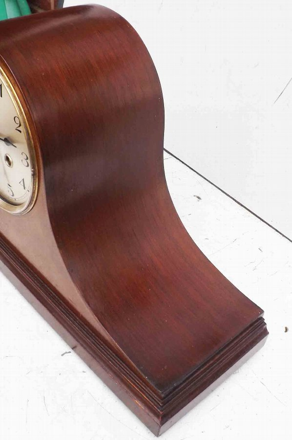 Antique Mantle clock, Edwardian mahogany cased with inlays.