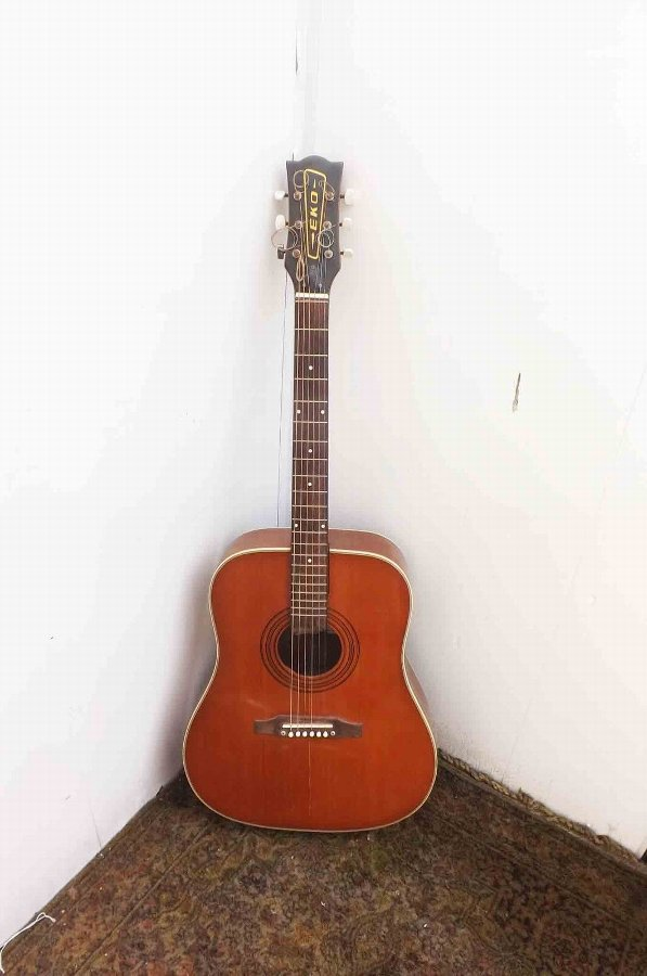 Echo acoustic guitar vintage item of quality.