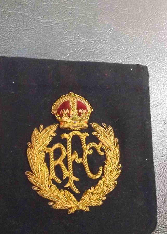 RFC Gold braid Badge for Blazer genuine 1ww flyer's item.