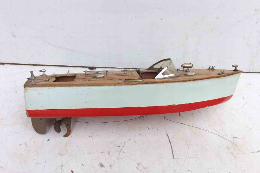 Motor Launch rare Vintage ITO Japan speed boat battery operated, free world post.