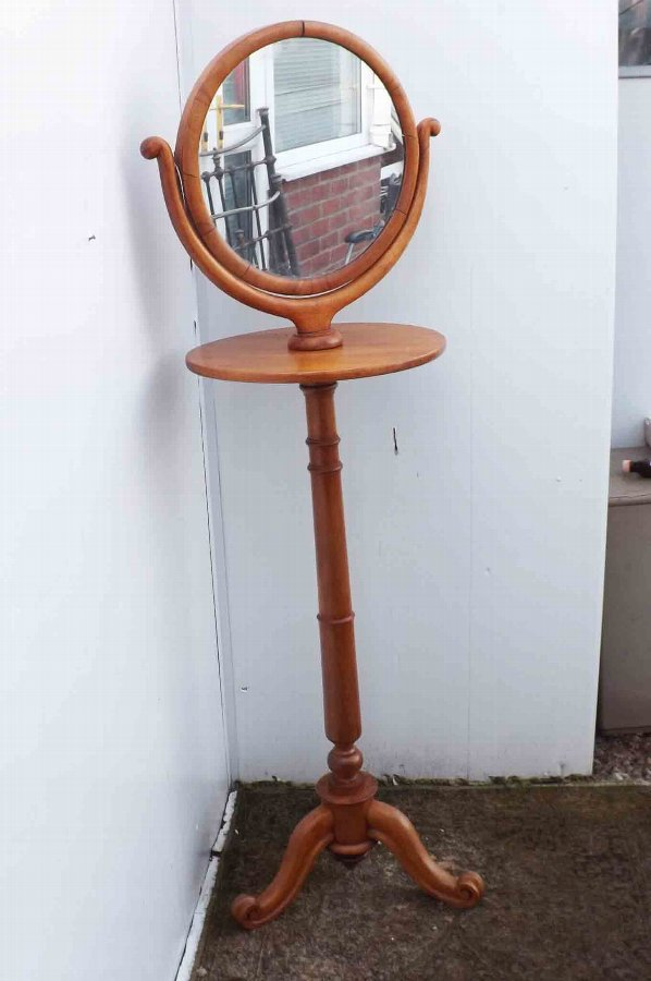 Victorian Gentlemans Shaving stand and mirror in mahogany