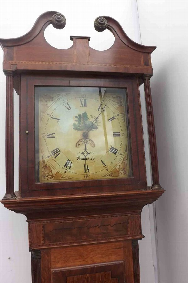 Antique Coventry longcase grandfather clock