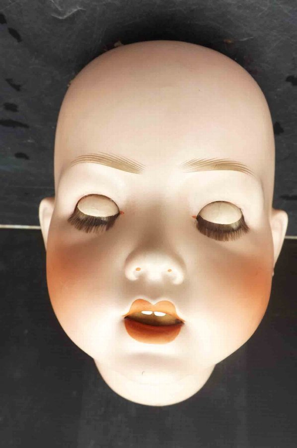 Antique Biske doll's head SH PB number 10 large sized