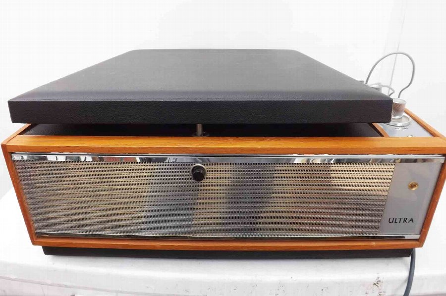 Antique Ultra record player rare and important item from history.