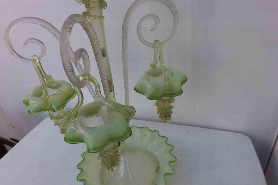 Antique Victorian Glass Epergne