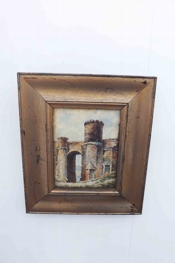 original oil painting, Victorian in wooden frame proffesional artist