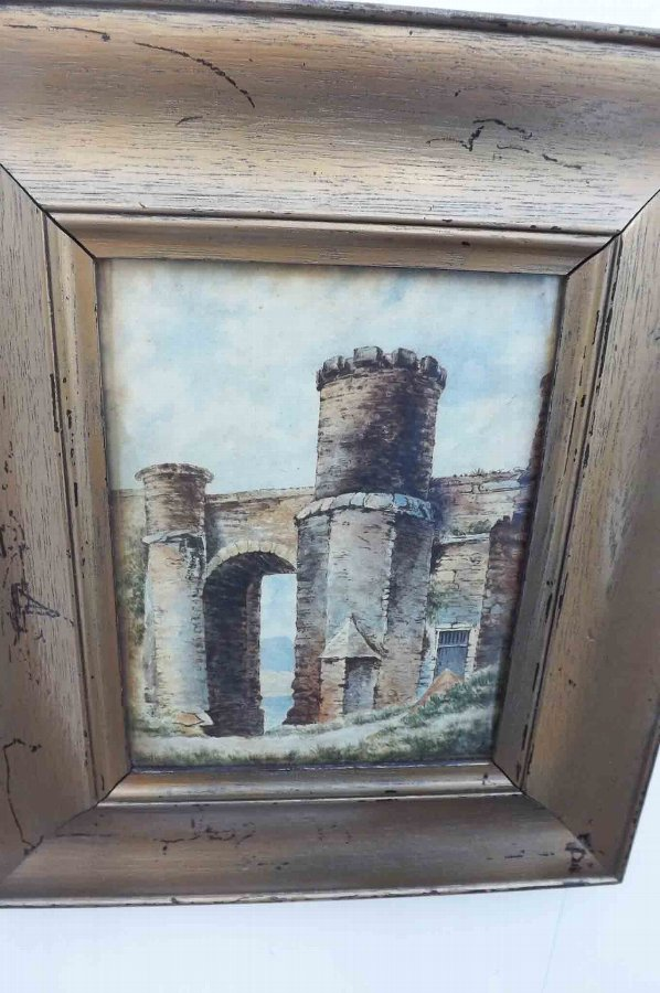 Antique original oil painting, Victorian in wooden frame proffesional artist