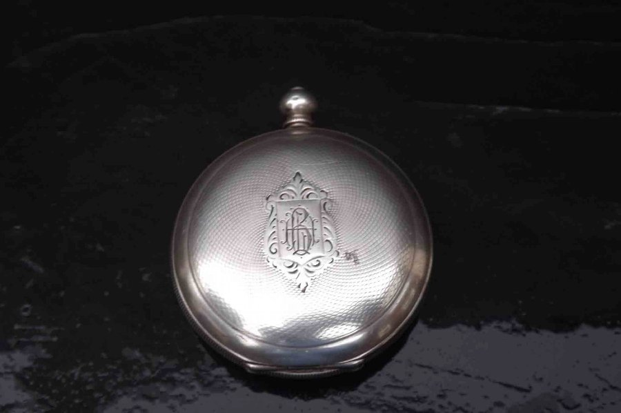 Silver Full Hunter pocket watch late Victorian
