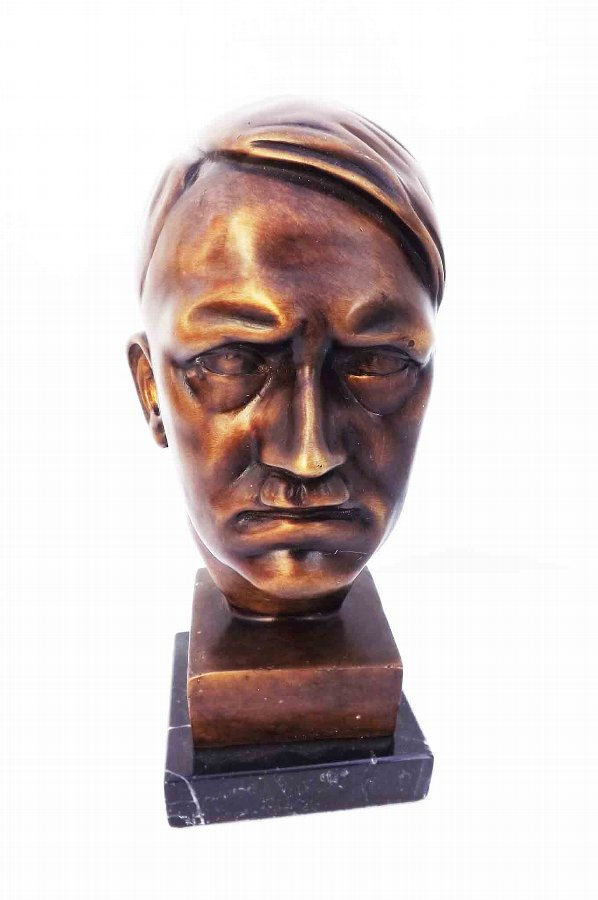 Adolf Hitler Bronze bust on marble base