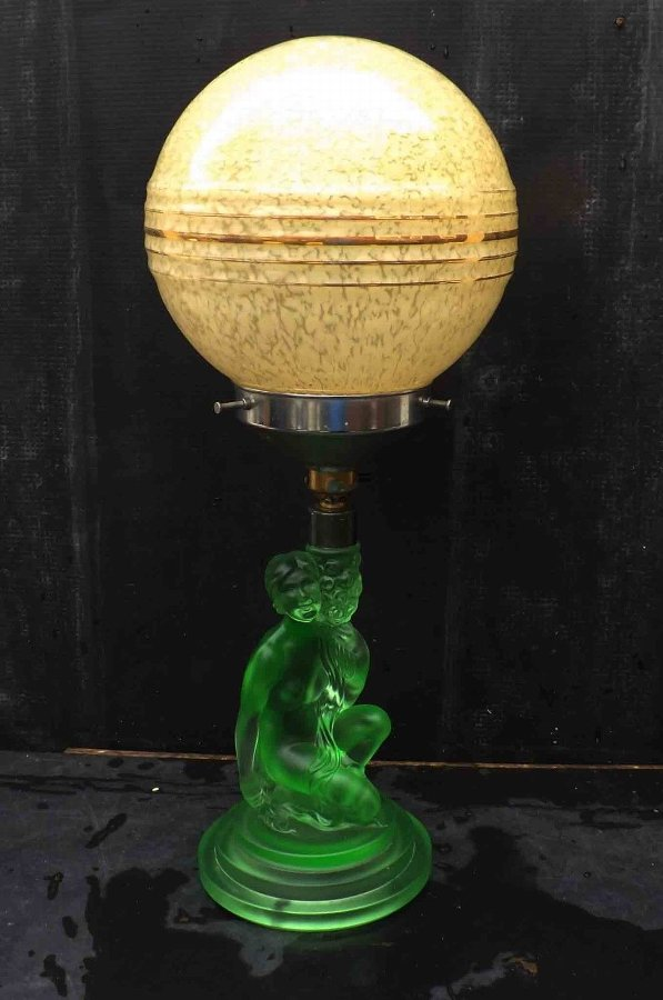 art deco Nude based table lamp