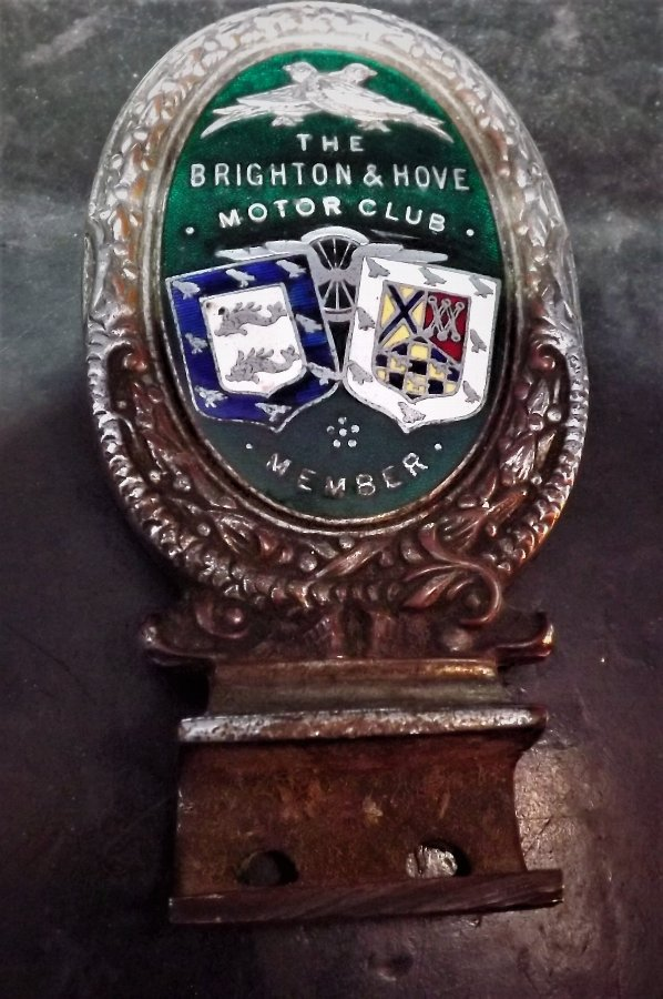 The Brighton & Hove motor club members badge rare 1930's vintage item