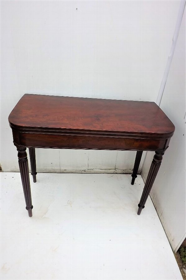 Gillows of Lancaster card table in mahogany Georgian.