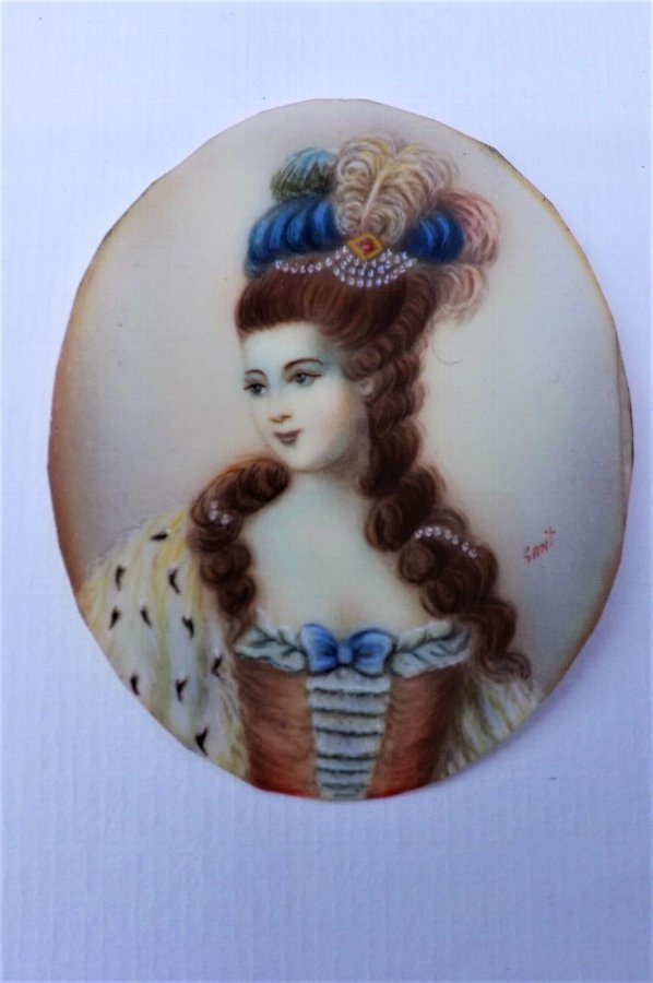 Miniature Framed painting of Georgian woman