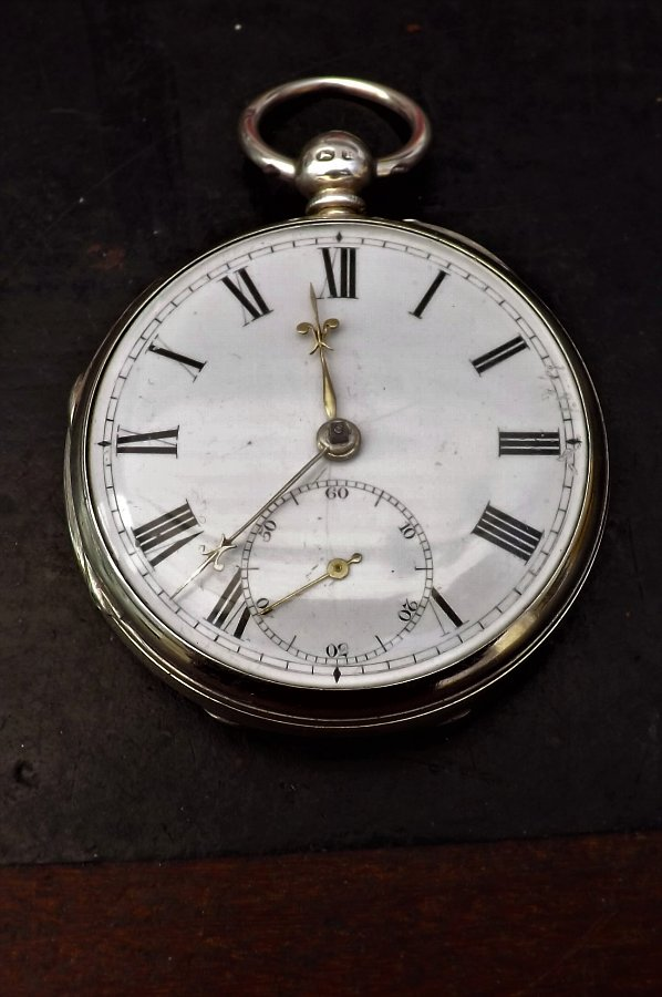 Solid silver pocketwatch fusse