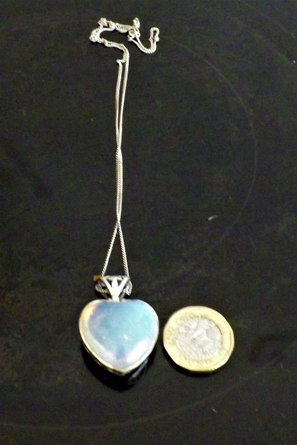 Pendant & silver necklace