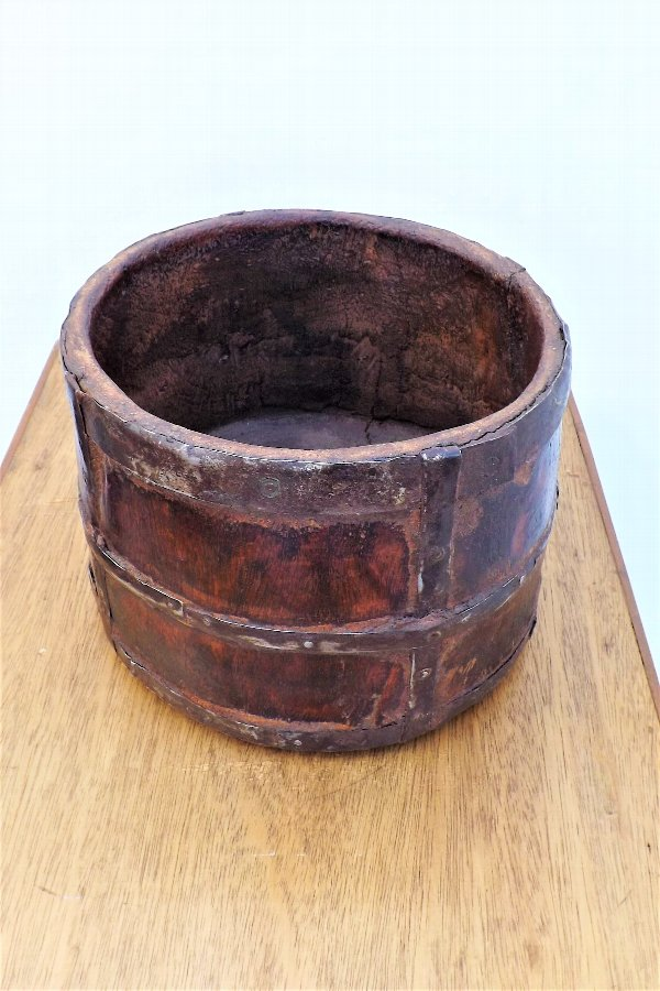 Antique wooden water container
