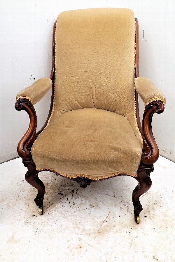 Victorian rosewood armchair