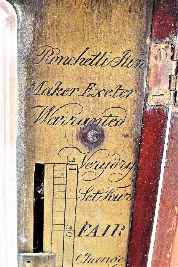 Antique Stick Barometer mahogany antique
