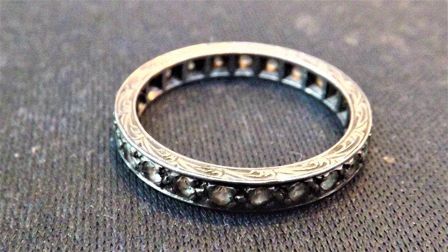 Victorian platinum and diamonds Eternity ring