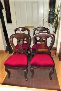 CHAIRS 4 DINING MAHOGANY VICTORIAN QUALITY ITEMS