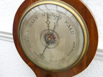 Antique BAROMETER  MAHOGANY CASE