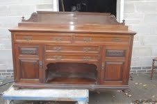 Serving table sideboard walnut Victorian
