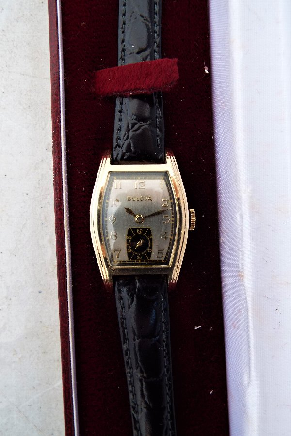 Antique Vintage Art Deco style Genuine Bulova Watch From The 1940'S