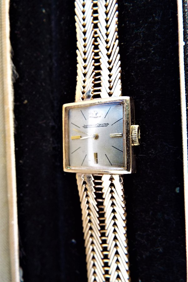 Antique Jaeger LeCoultre Gold Lady's art deco styled wristwatch