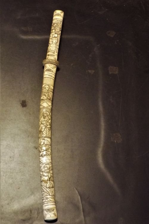japanese short sword 18th century wasasaki