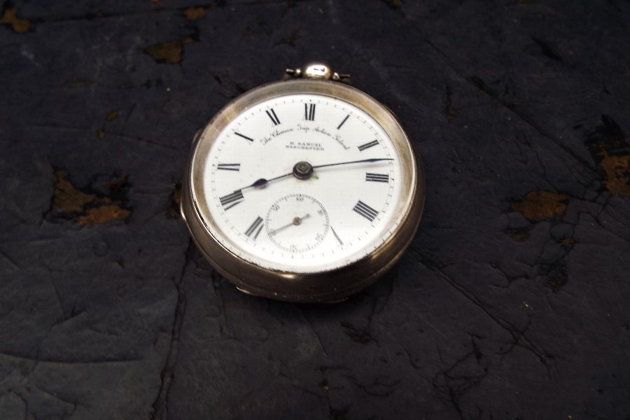 Rare movement, Solid silver hallmarked mans pocket watch