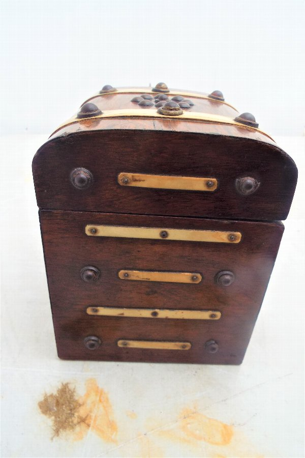 Antique Antique Rosewood Tea Caddy Box