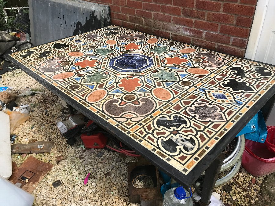 Pietra Dura precious stone's table top
