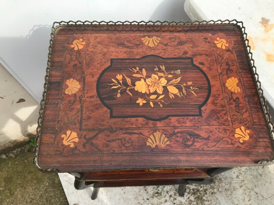 Antique Whatnot Superb Inlays and Many Exotic Veneers