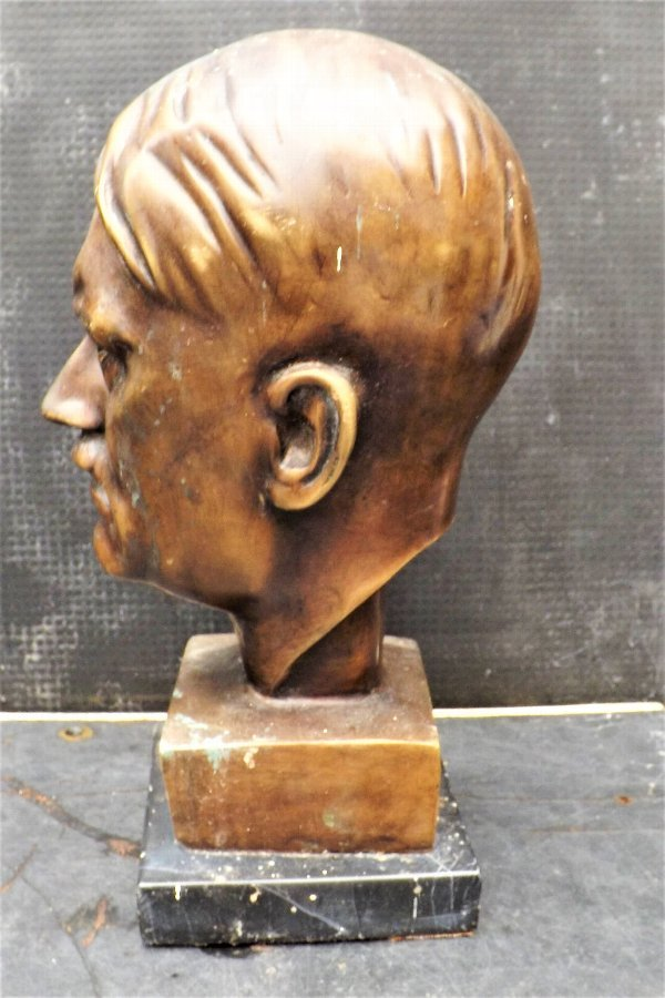 Antique Bronze and marble bust